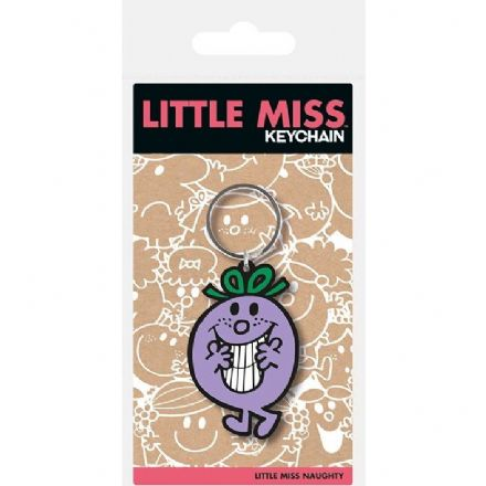 Little Miss Naughty Rubber Keychain